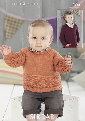 Sirdar Snuggly DK - 4583 Sweaters Knitting Pattern
