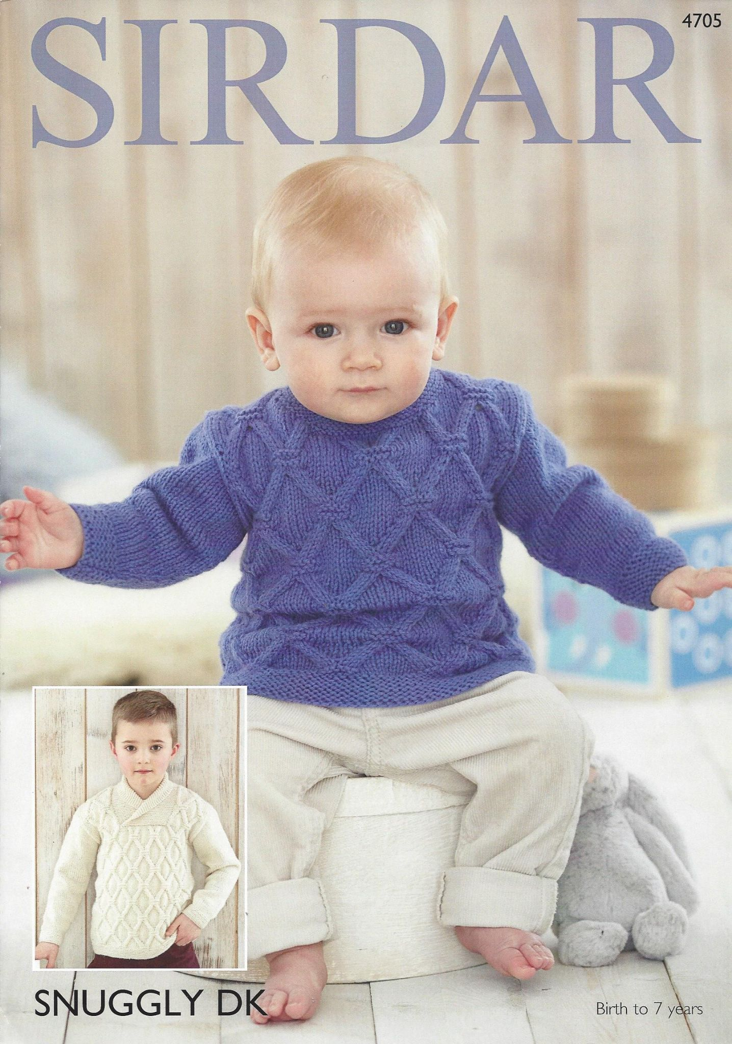 Sirdar Snuggly DK - 4705 Boy s Sweaters Knitting Pattern