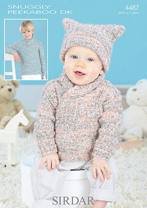 Sirdar Snuggly Peekaboo Dk 4487 Sweaters And Tea Bag Hat Knitting