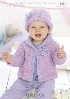 Sirdar Snuggly Snowflake Chunky 1884 Cardigan And Hat