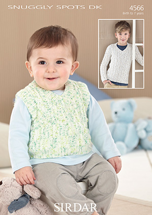 Sirdar Snuggly Spots Dk 4566 Sweater Tank Top Knitting Pattern