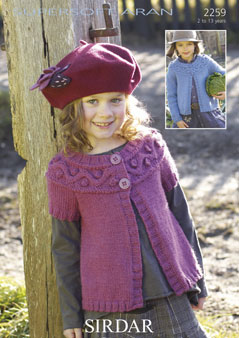 f1dc2c402692 Sirdar Supersoft Aran - 2259 Cardigans Knitting Pattern