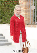 Sirdar Wash 'n Wear Double Crepe - 9838  Jacket Knitting Pattern